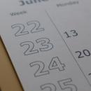 Close-up of calendar